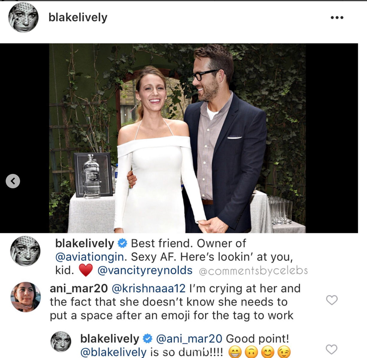 Blake Lively Just Trolled Herself on Instagram to Hit Back