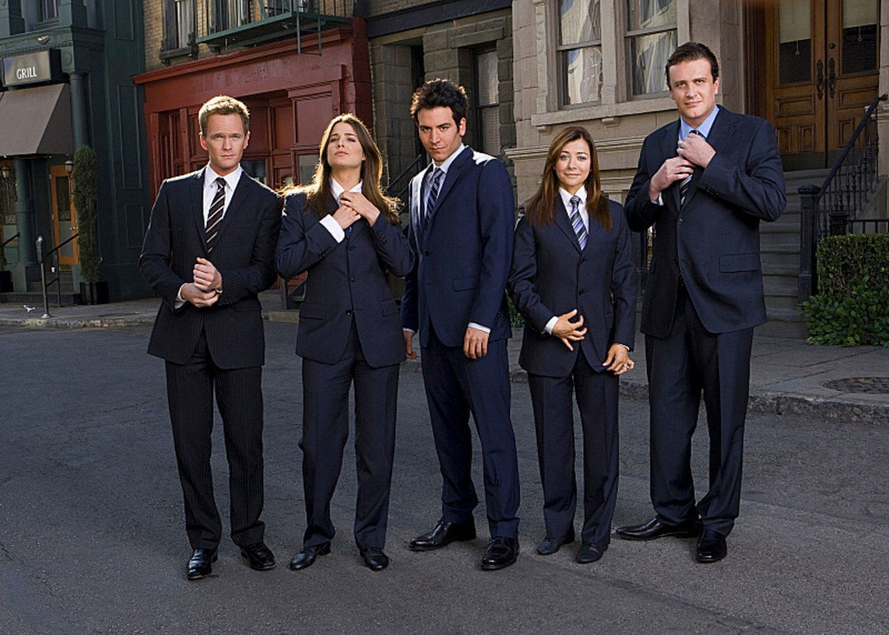 himym cast suits