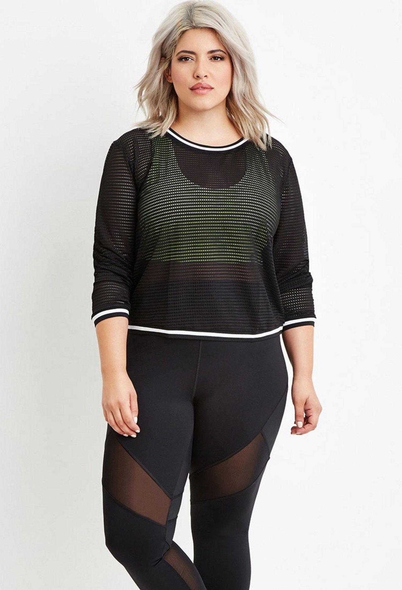 Siempre 21 plus size fitness mesh top 3